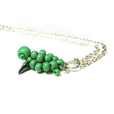 Heart in Hawaii Small Honu Pendant or Charm - Beaded Sea Turtle in Opaque Green