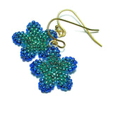 Heart in Hawaii Pua Kawaii - Tiny Plumeria Dangles in Peacock Green