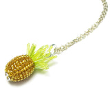 Heart in Hawaii Tiny Beaded Pineapple Charm or Pendant - Silver Color