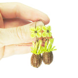 Heart in Hawaii beaded Pineapple Quatrefoil Dangle Earrings