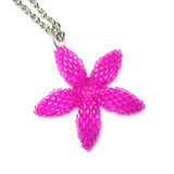 Heart in Hawaii Pua Plumeria Pendant v2 with Chain - Fuchsia