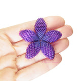 Heart in Hawaii Beaded Plumeria Flower - Purple - 3 sizes
