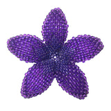 Heart in Hawaii Beaded Plumeria Flower - Purple - Large