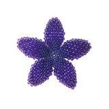 Heart in Hawaii Beaded Plumeria Flower - Purple - Medium