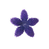 Heart in Hawaii Beaded Plumeria Flower - Purple - Small