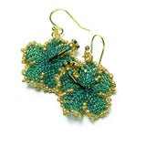 Heart in Hawaii Beaded Hibiscus Earrings - Scarab