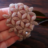 Temple Tree Flower of Life Beaded Bracelet Style 1 - Sparkly Copper