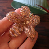 Heart in Hawaii 2.5 inch Beaded Plumeria Flower - Sparkly Copper
