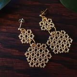 Heart in Hawaii Beaded Honeycomb Earrings - Sparkly