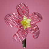 Heart in Hawaii Beaded Plumeria Flower - Strawberry Lemonade