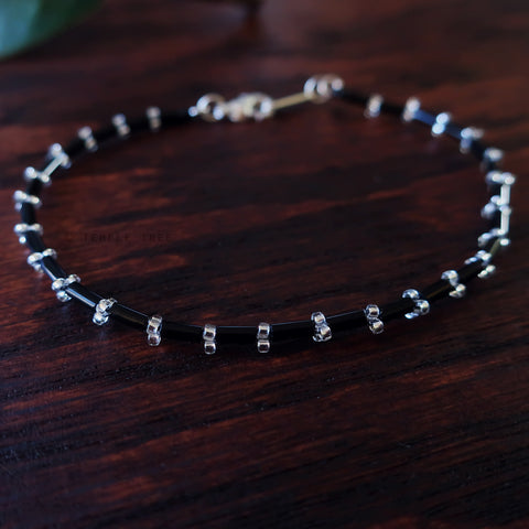 Temple Tree Thin Bamboo Weave Beaded Bracelet - Constellations