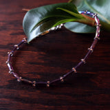 Temple Tree Thin Bamboo Weave Beaded Bracelet - Sugar Plum