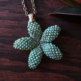 Heart in Hawaii 1.5 inch Plumeria Pendant - Faux Turquoise