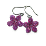 Heart in Hawaii Pua Kawaii - Tiny Plumeria Flower Dangles - Ultraviolet