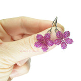 Heart in Hawaii Tiny Plumeria Flower Dangles - Ultraviolet