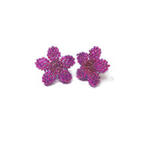 Heart in Hawaii Tiny Plumeria Flower Studs - Ultraviolet