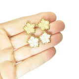 Heart in Hawaii Tiny 15mm Plumeria Flower Studs