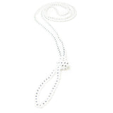 "Heart in Hawaii Extra Long 40"" Beaded Necklace - Monotone"