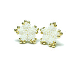 Heart in Hawaii Tiny 15mm Plumeria Flower Studs - White