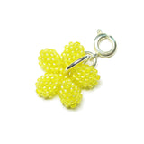 Heart in Hawaii Tiny Beaded Plumeria Clasp Charm - Yellow