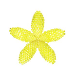 Heart in Hawaii Beaded Plumeria Flower - Yellow - 3 sizes