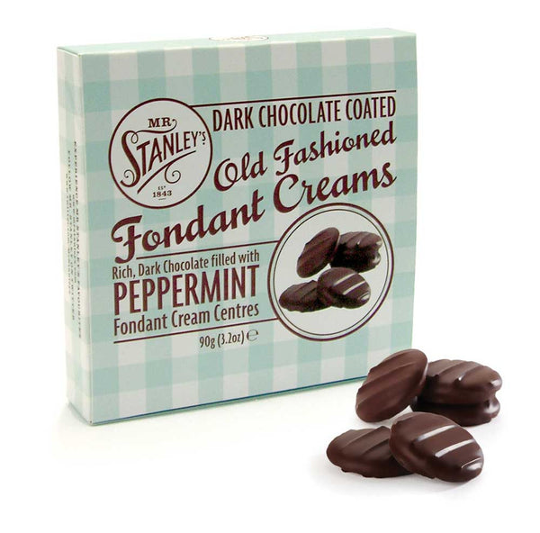 Peppermint fondant creams