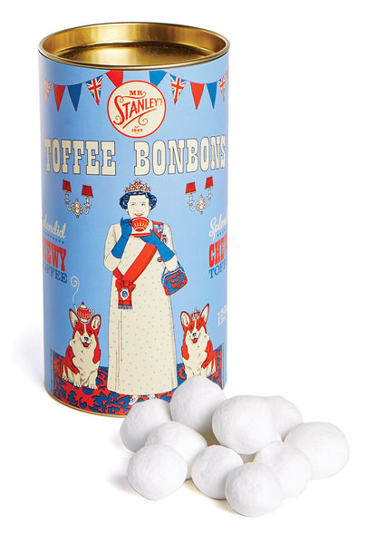 Toffee bonbons in a tin