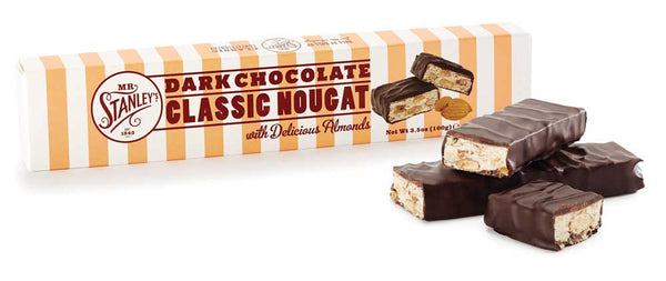 Dark chocolate nougat bringing a rich bodied flavour to this classic sweet