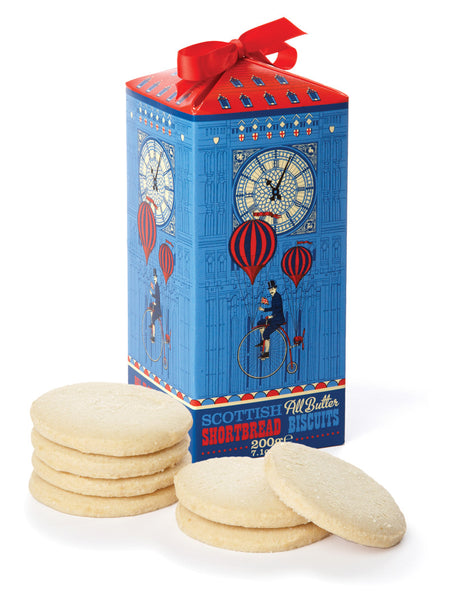 Delicious shortbread in a tin modelled on Big Ben