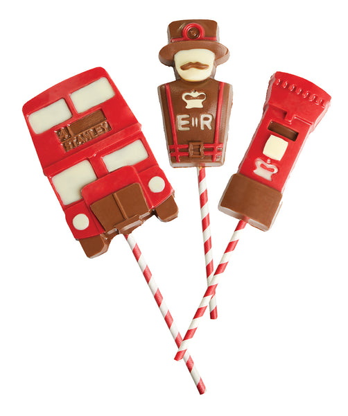 London themed chocolate lollypop
