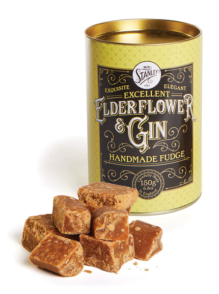 Gin and elderflower fudge