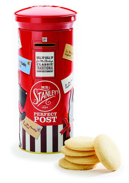Post Box Tin filled with All Butter Shorbread