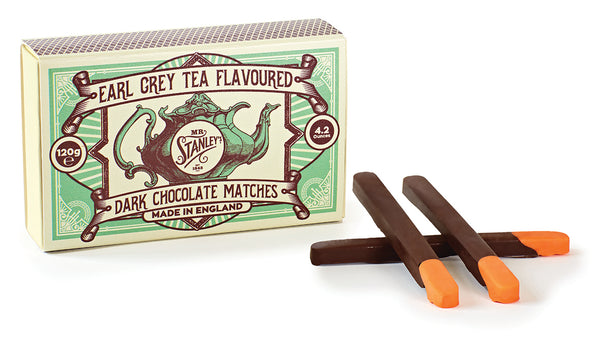 Earl Grey tea flavoured dark chocolate matches