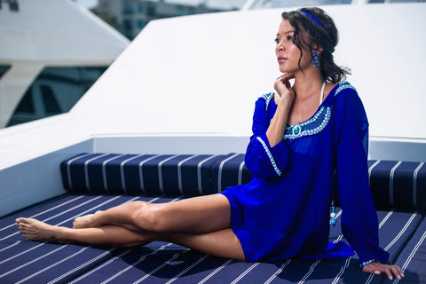 beachwear electric blue
