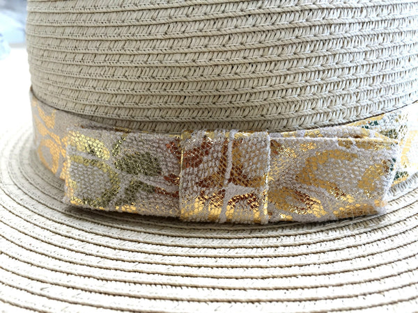 Gold Bucket Hat Beach Glam