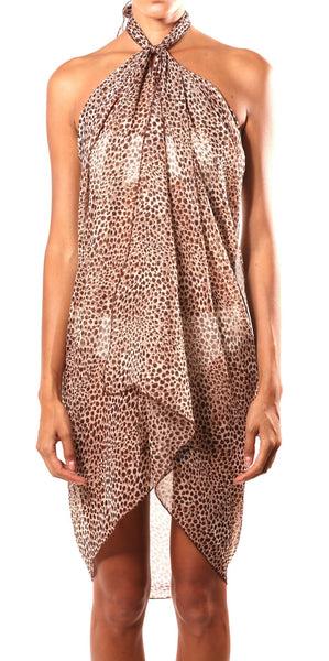 Cheetah Print Wrap Beach Glam