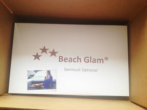 beach glam white gift box