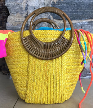 Yellow Beach Bags Beach Glam
