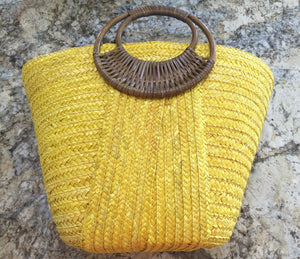 Yellow Beach Bags top view Beach Glam