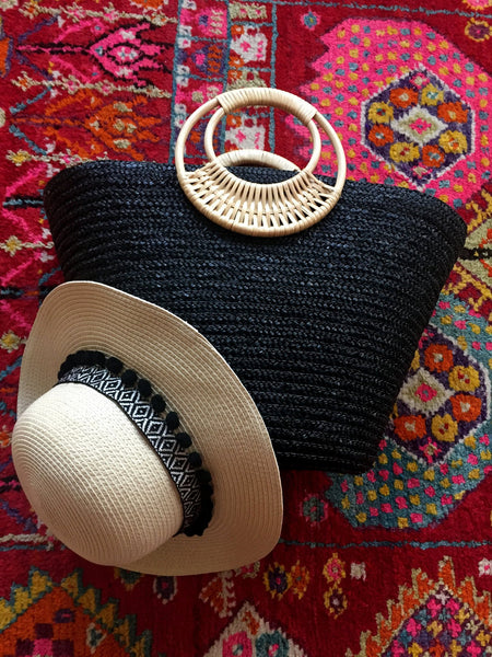 black and brown beach accessories