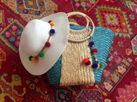 beach hat and bag gift set