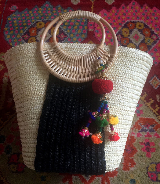 boho beach basket
