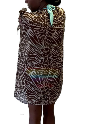 animal print beach wrap