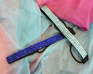 Blue Rhinestone Headband Beach Glam