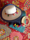 colorful bag and hat gift set