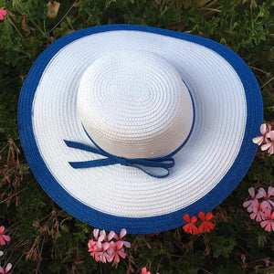 White Blue Summer Hats Beach Glam