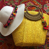 Yellow Boho Pom Pom and Gold Gift Set