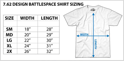 7.62 Design Military Shirt Size Chart
