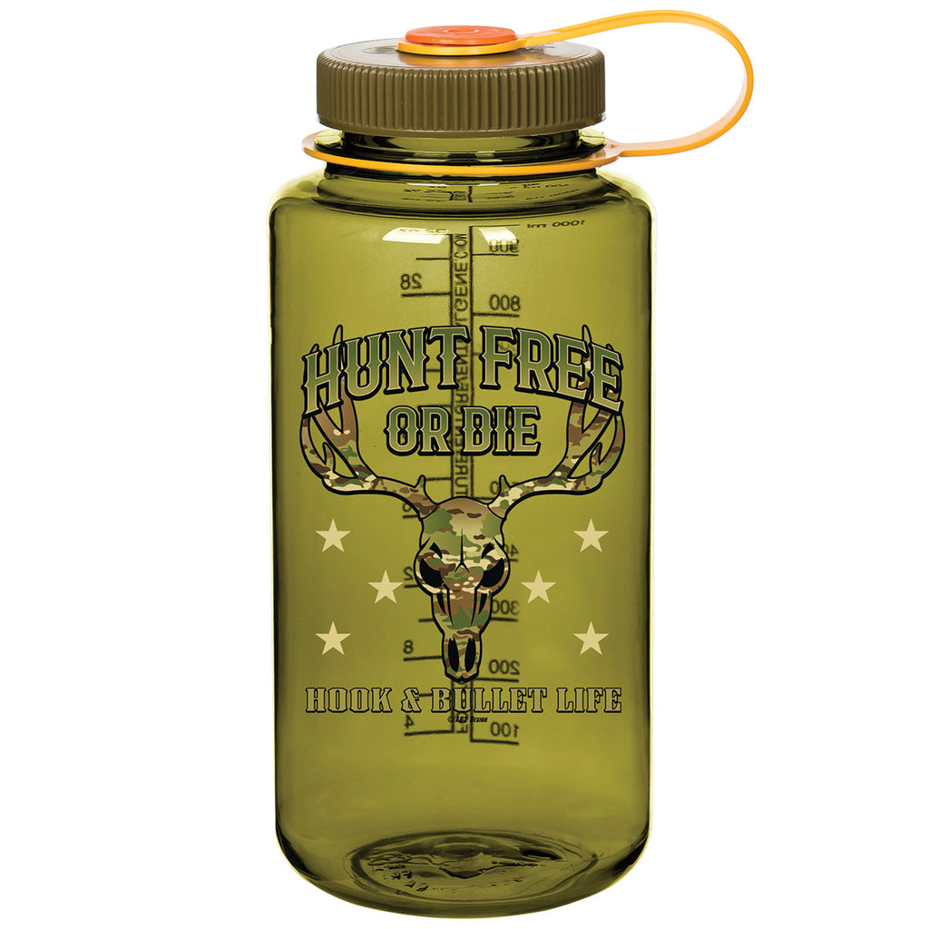 Hunt Free or Die 7.62 Design 32oz Nalgene 501 Bottle Olive- 7.62 Design