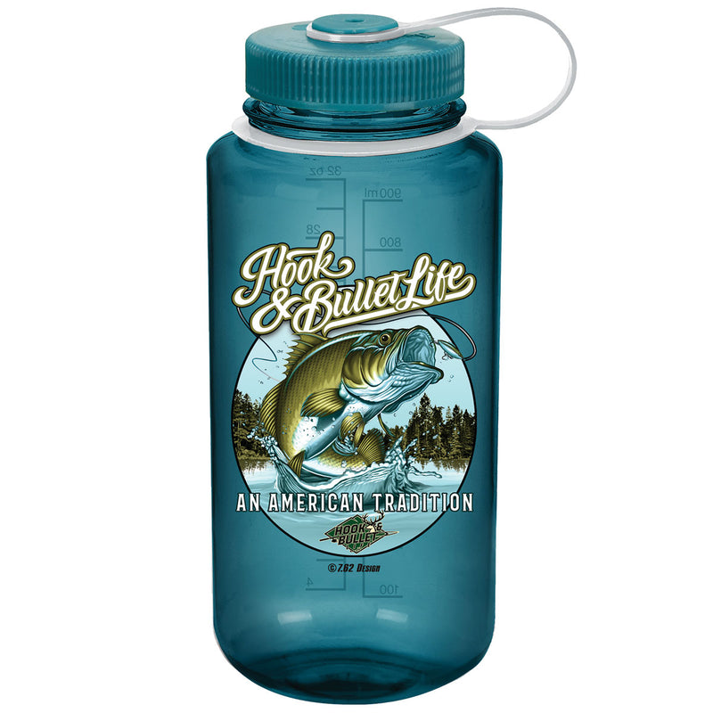 Hook & Bullet Life 7.62 Design 32oz Nalgene 501 Bottle Trout Green- 7.62 Design